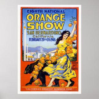 8vo Demostración anaranjada nacional 1918 Póster