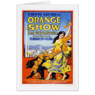 8vo Demostración anaranjada nacional 1918 Tarjeta De Felicitación