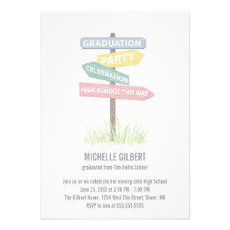 8vo fiesta de Gradution del grado de la placa de c Comunicados Personalizados