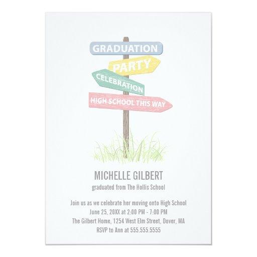 """8vo fiesta de Gradution del grado de la placa de Invitación 5"""" X 7"""""""