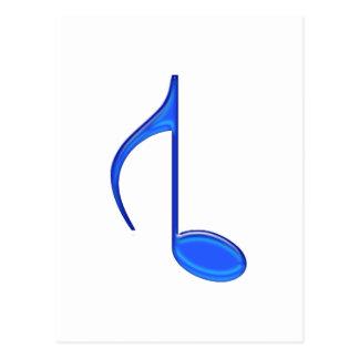 8vo Grande invertida de la nota musical creado Tarjeta Postal