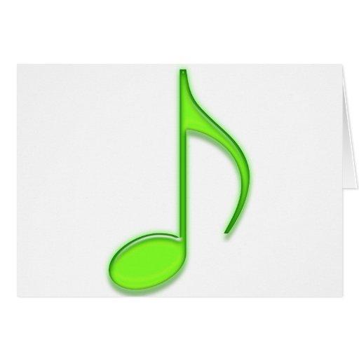 8vo Observe la nota musical de la verde lima de cr Felicitación