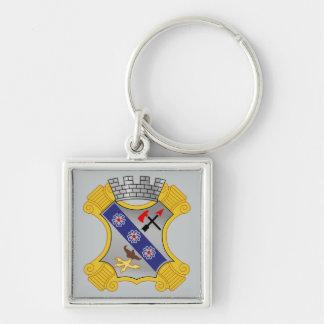 8vo Regimiento de infantería - DUI Llavero Cuadrado Plateado