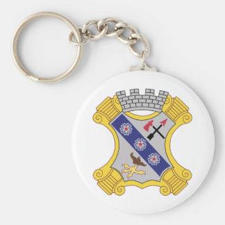 8vo Remiendo del regimiento de infantería Llavero Personalizado