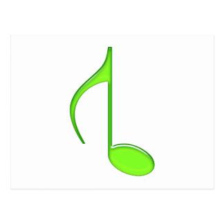 8vo Verde dado vuelta nota 2010 de la música Tarjetas Postales