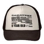 8vos años más grandes de la fiesta de cumpleaños d gorras