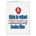 8vos diseños del cumpleaños del año felicitacion