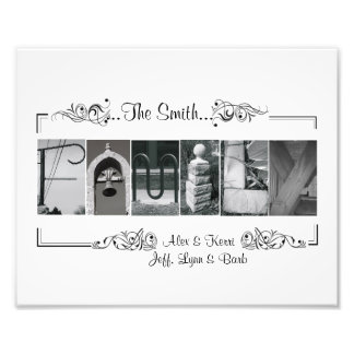 8x10 Alphabet Letter Photography Family Custom Pri Photo Print