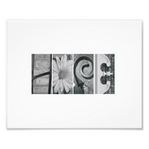 8x10 Alphabet Letter Photography Hope Print Art Photo