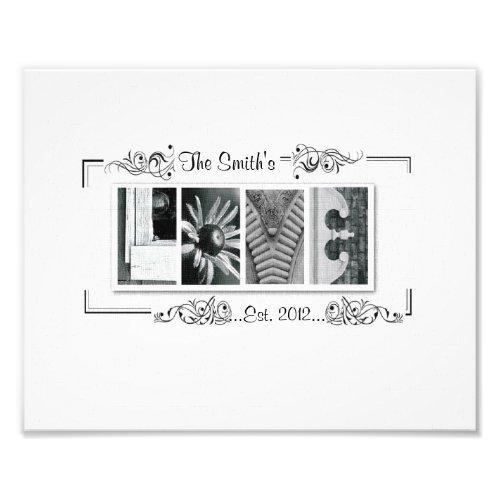 8x10 Alphabet Letter Photography Love Print photoenlargement