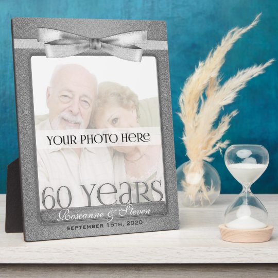 8x10 Diamond 60th Wedding Anniversary Photo Frame Zazzlecom