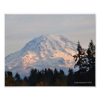 8X10 el Monte Rainier de Puyallup, WA Fotografía