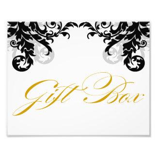 8x10 Flourish Wedding Gift Box Sign for Framing Photo Print