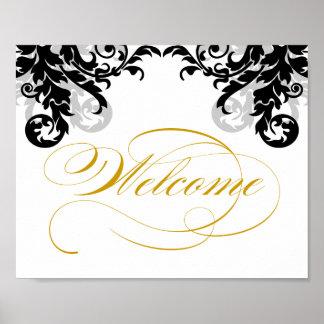 8x10 Flourish Wedding Welcome Sign for Framining Print