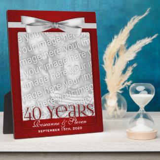 8x10 marco de la foto del aniversario de boda del  placas de madera