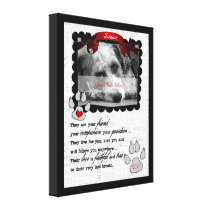 8x10 Pet Memorial Poem Dog Photo Canvas Print