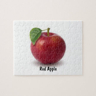 8x10 Photo Puzzle with Tin, Red Apple