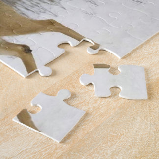 8x10 Photo Puzzle with Tin, Snow Deer