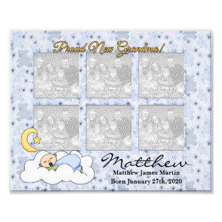 8x10 Proud Grandma New Baby Boy Photo Frame
