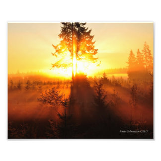 8X10 Sunrise Fog in the Pacific Northwest Photograph