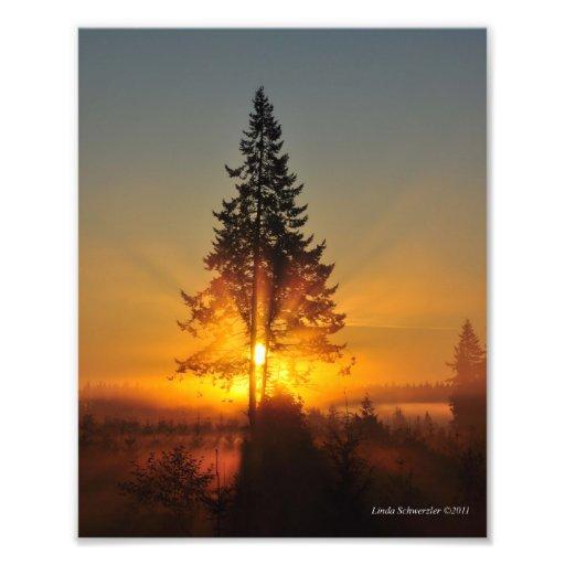 8X10 Sunrise in the Great Northwest Photo