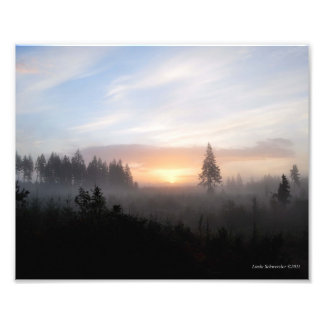 8X10 Typical Foggy Sunrise in the Great Northwest Photographic Print