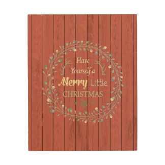 "8x10 Wood Canvas - ""...Merry Little Christmas"""