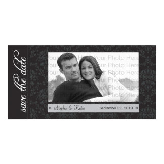 """8x4"""" Baroque Black Save the Date Announcement"""