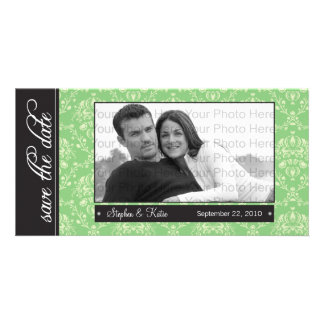 """8x4"""" Baroque Green Save the Date Announcement"""