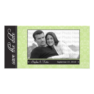 """8x4"""" Sage Baroque Save the Date Photo Announcement"""