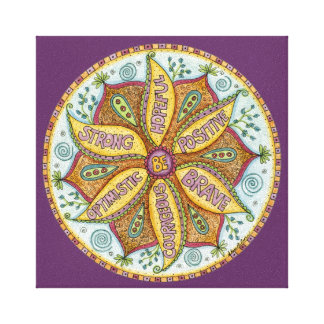 8x8 Be Fearless Mandala - Premium Stretched Canvas