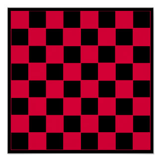 "8x8 Checkers TAG Board (1-1/4"" fridge magnets) Posters"