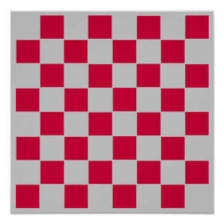 "8x8 Checkers TAG Board (1-1/4"" fridge magnets) Poster"