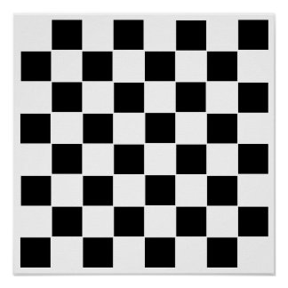 """8x8 Checkers TAG Board (1-1/4"""" fridge magnets) Poster"""