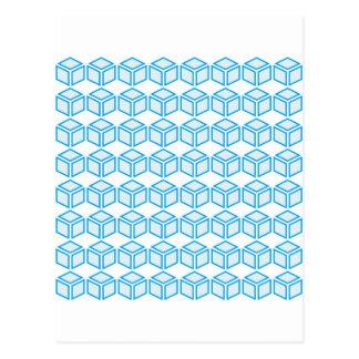 8x8 cube postcard