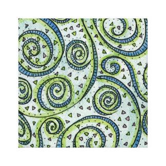8x8 Swirl Mandala - Premium Stretched Canvas Print