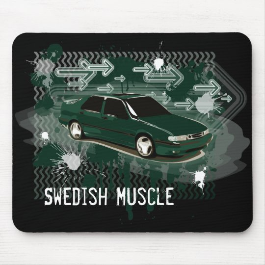 9000 aero scarabe green, Swedish Muscle Mouse Pad