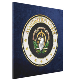[900] Acquisition Corps (AAC) Branch Insignia [3D] Canvas Print