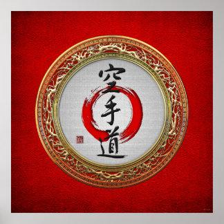 [900] Caligrafía japonesa - Karate-haga Poster