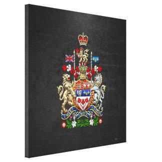 [900] Canada Coat of Arms [3D] Canvas Print