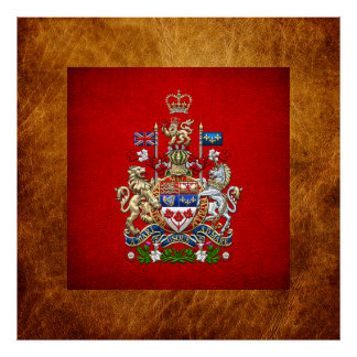 [900] Canada Coat of Arms [3D] Poster