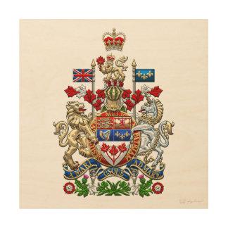 [900] Canada Coat of Arms [3D] Wood Wall Art