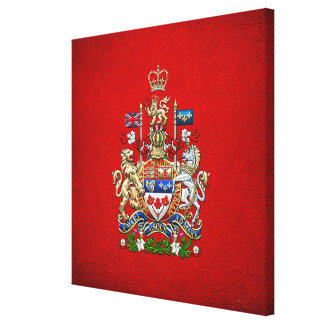 [900] Escudo de armas de Canadá [3D] Impresión En Lienzo Estirada