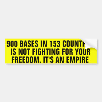 900 Military Bases Bumper Sticker