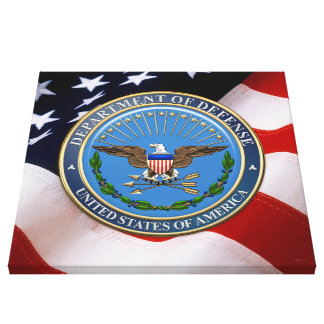 [900] U.S. Department of Defense (DOD) Emblem [3D] Canvas Print