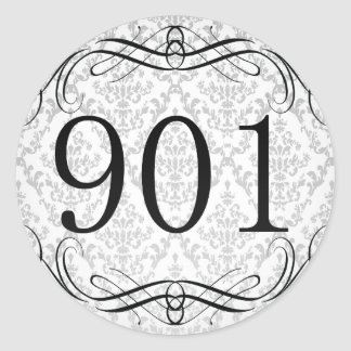 901 Area Code Classic Round Sticker