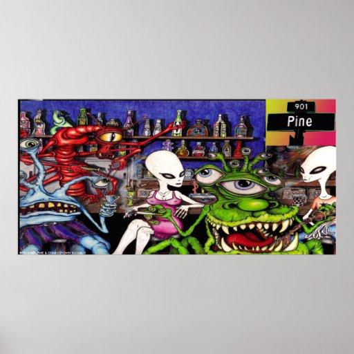 """901 Pine """"Alien Bar Scene"""" Poster"""