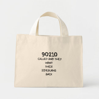 90210 llamado y quieren sus patillas traseras bolsa tela pequeña