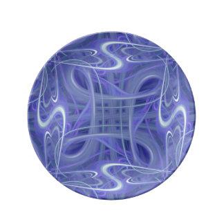 9024b azul plato de cerámica