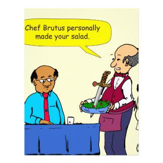 904 Chef Brutus made the salad cartoon Letterhead